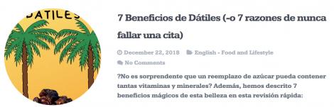 Blog: Beneficios de Datiles
