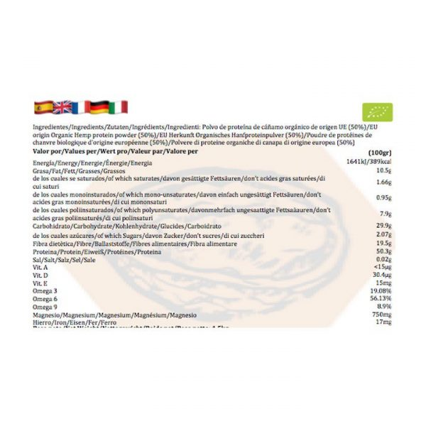 Hemp Protein Powder 50 Raw Coldpressed EU Origin Organic BIO Samskara Tribe 4 1