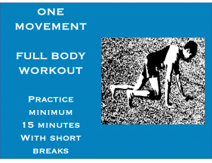 Human Crawl Body weight exercise