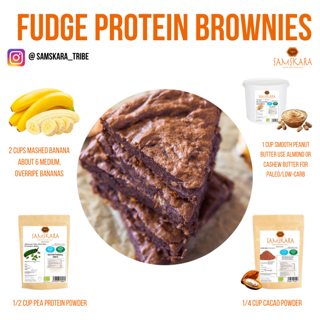 Plant-Based Recipes, Protein Brownies